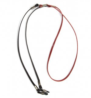 TWO TONE SOPHISTICATED GLASS CORD / Red & Black