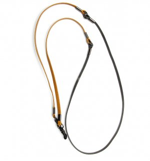 TWO TONE SOPHISTICATED GLASS CORD / Dark Grey & Light Brown