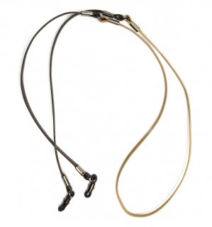 TWO TONE SOPHISTICATED GLASS CORD / Beige & Dark Brown