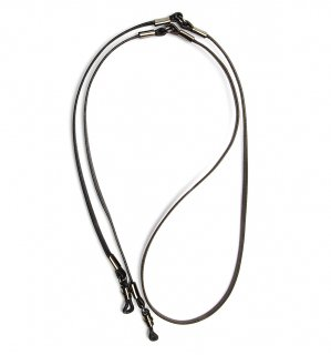 TWO TONE SOPHISTICATED GLASS CORD / Dark Brown & Black