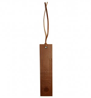 NATURAL LEATHER BOOK MARK / Brown