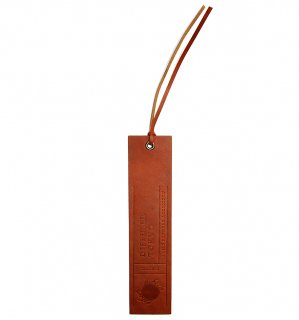NATURAL LEATHER BOOK MARK / Orange