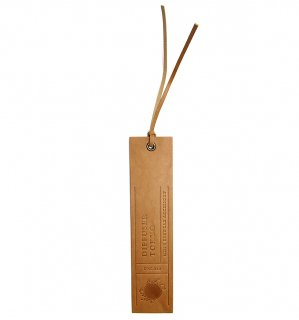 NATURAL LEATHER BOOK MARK / Light Brown
