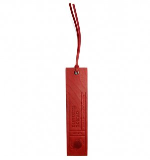 NATURAL LEATHER BOOK MARK / Red