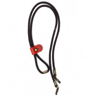 ADJUSTABLE LENGTH GLASS CODE 3 / Dark Grey & Red Grey / Red Leather