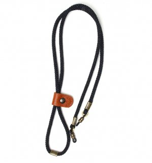 ADJUSTABLE LENGTH GLASS CODE 3 / Dark Grey & Dark Blue Grey / OrangeLeather