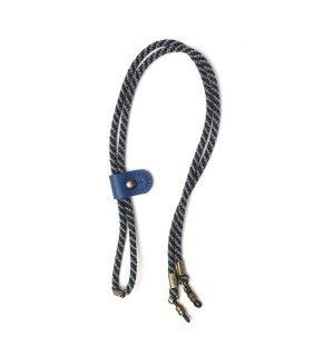 ADJUSTABLE LENGTH GLASS CODE 3 / Dark Grey & Light Grey / Blue Leather
