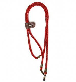 ADJUSTABLE LENGTH GLASS CODE 3 / Dark Red & Red / Dark Brown Leather