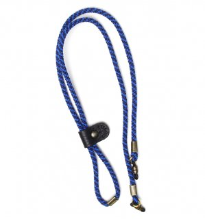 ADJUSTABLE LENGTH GLASS CODE 3 / Dark Blue & Blue / Black Leather