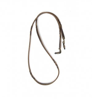 TWISTED LEATHER SOFT BRACECODE / Black Brown