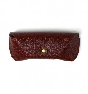 HORWEEN LEATHER EYEWEAR CASE / Brown(Emboss) & Brown