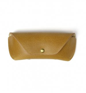 HORWEEN LEATHER EYEWEAR CASE / Beige(Emboss) & Beige