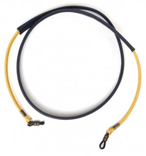 COMBINATION TWO LEATHER GLASS CORD / Yellow & Navy