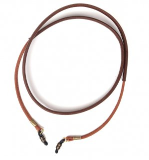 COMBINATION TWO LEATHER GLASS CORD / Brown & Dark Brown