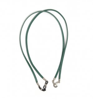 EMBOSS LEATHER DETACHABLE GLASS CODE / Green