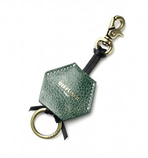 CRUSH LEATHER HANGING HOLDER / Green