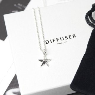 ASTERISK PENDANT TOP NECKLACE (Ball chain 39cm)