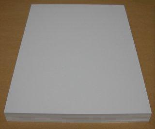 A4名刺用紙(ホワイト/上質紙) 100枚入り インクジェットプリンター&レーザープリンター用