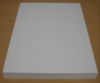 A4名刺用紙(ホワイト/ケント紙)100枚入り インクジェットプリンター&レーザープリンター用