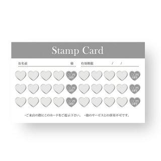 【 裏面オプション 】(名刺・ショップカード用)-スタンプカード30マス(ハート)