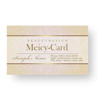 【 可愛い名刺 】 サロン名刺・ショップカード|ナチュラルゴージャスデザインショップカード02