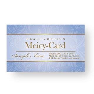 【 可愛い名刺 】 サロン名刺・ショップカード|ナチュラルゴージャスデザインショップカード04