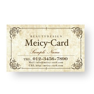 【 可愛い名刺 】 サロン名刺|美容院・ネイルに!アンティークフレームデザインショップカード02