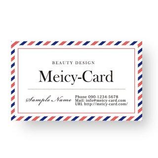 【可愛い名刺】 サロン名刺・ショップカード|シンプルショップカード01