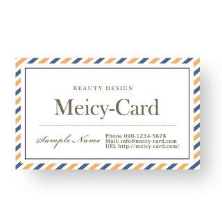【可愛い名刺】 サロン名刺・ショップカード|シンプルショップカード02
