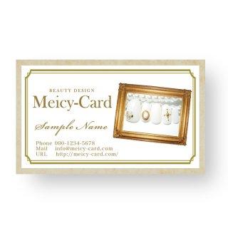 【可愛い名刺】 アンティーク名刺|スタンプカードや次回予約に可愛いサロン名刺・ショップカード03