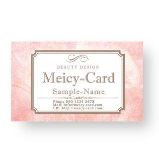 【 可愛い名刺 】 サロン名刺・ショップカード|アンティーク風デザインショップカード01