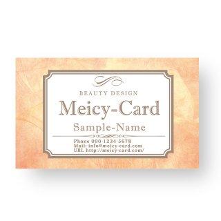 【 可愛い名刺 】 サロン名刺・ショップカード|アンティーク風デザインショップカード02