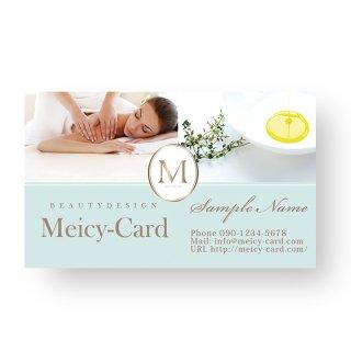 【 可愛い名刺 】 サロン名刺・ショップカード|マカロンカラーの高級感デザインカード03