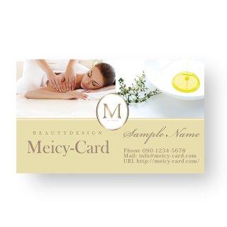 【 可愛い名刺 】 サロン名刺・ショップカード|マカロンカラーの高級感デザインカード04
