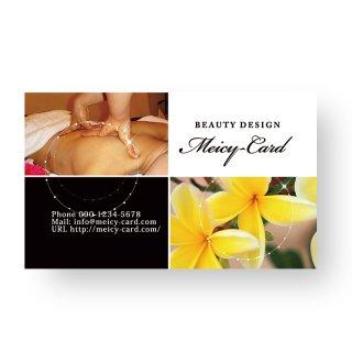 【 可愛い名刺 】 サロン名刺・ショップカード|大人可愛いシンプルデザイン01