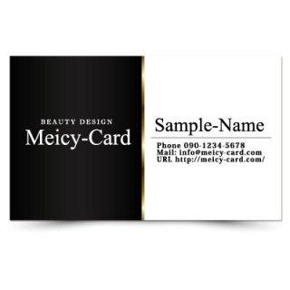 【 可愛い名刺 】 サロン名刺・ショップカード|スタイリッシュシンプルデザイン02