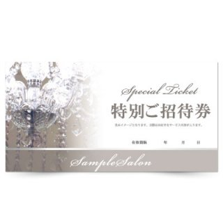 【クーポンチケット・割引券】エステサロン向け高級エレガントデザイン01