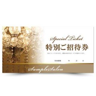 【クーポンチケット・割引券】エステサロン向け高級エレガントデザイン02