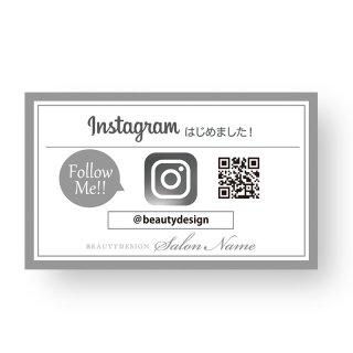 【 裏面オプション 】(名刺・ショップカード用)-インスタやline店舗用カード