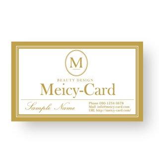 【 可愛い名刺 】 サロン名刺・ショップカード|へアーサロン・ネイルサロンに|エレガントシンプル01