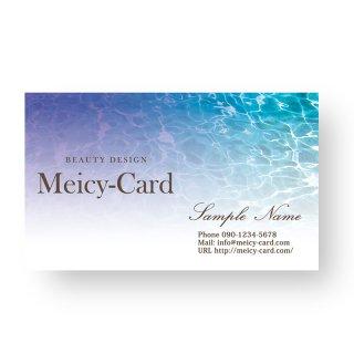 【 可愛い名刺 】 サロン名刺・ショップカード|海マリングラデーションスタイル01