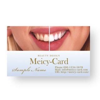 【 可愛い名刺 】 サロン名刺・ショップカード|美容歯科クリニック・ホワイトニング02
