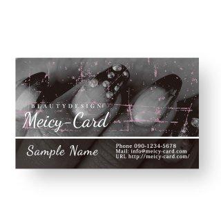 【 可愛い名刺 】 サロン名刺・ショップカード|美容院・ネイルサロンに|個性派オシャレデザイン03