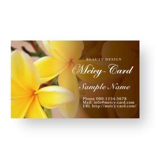 【 可愛い名刺 】 サロン名刺・ショップカード|美容サロン向け大人目線のフラワーデザイン01