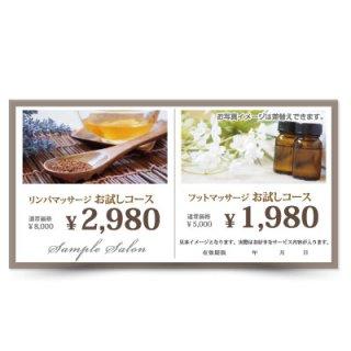 【クーポンチケット・割引券】2キャンペーン記載可能なおしゃれ集客チケット02