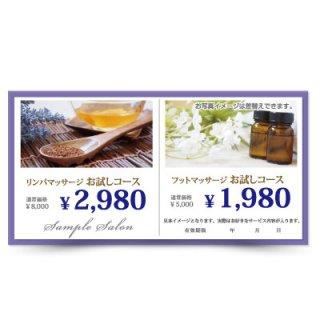 【クーポンチケット・割引券】2キャンペーン記載可能なおしゃれ集客チケット03