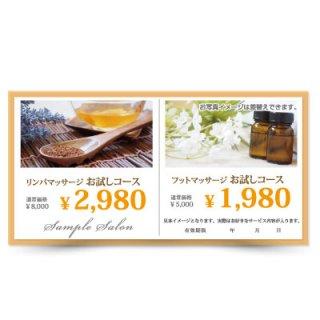 【クーポンチケット・割引券】2キャンペーン記載可能なおしゃれ集客チケット04