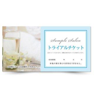 【クーポンチケット・割引券】アロマ・オーガニックサロンの体験チケットナチュラルデザイン01