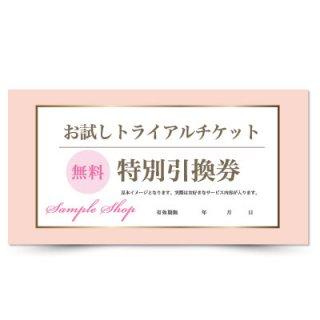 【クーポンチケット・割引券】ネイルサロンのかわいい金券サービスチケット01