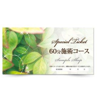 【クーポンチケット・割引券】綺麗な商品券,オリジナルのサロン施術チケット03